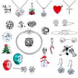 Set 24 bijuterii dama, multicolor, cutie bijuterii tip calendar inclusa