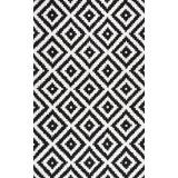 Covor negru din lână țesut manual Borchardt, 152 cm x 244 cm