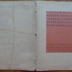 Poeti  talmaciti de Ion Minulescu , 5 gravuri de Grant , 500 exempl. interbelice