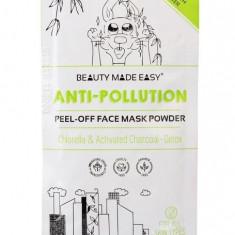 Masca pell off anti-poluare, cu chlorella si carbune activ, Beauty Made Easy,...