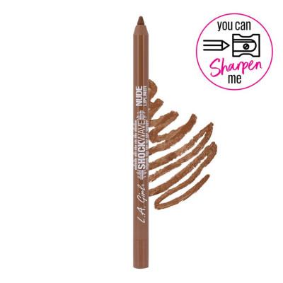 Creion de buze waterproof, ultrarezistent L.A. Girl Shockwave Nude Lipliner, 1.2g - 742 Gingerbread foto