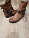 Superbe ghete dama noi handmade piele naturala fina foarte comode 40 !, Camel