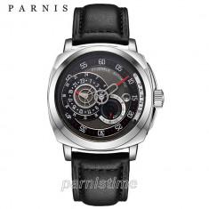 Ceas Parnis Militar 24 h Miyota 8219 / Seiko Casio Citizen Orient, Mecanic-Automatic