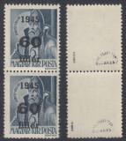 ROMANIA 1945 ARDEALUL DE NORD ORADEA I 60F/6F  PERECHE  MNH AUTENTIFICARE BODOR