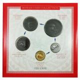 Set  5 Monede Romane, reproduceri, Împărați Nero, Antoninus Pius și Augustus