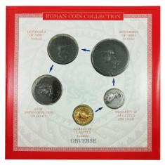 Set  5 Monede Romane, reproduceri, Împărați Nero, Antoninus Pius și Augustus, Europa