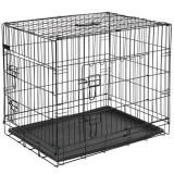 @Pet Cușcă transport câini Metal 107x70x77,5 cm Negru, 15004
