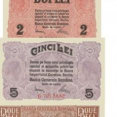 25, 50 Bani,  1l, 2 , 5, 20i, 100, 1000 Lei 1917 Ocupatia Germana - Reproduceri