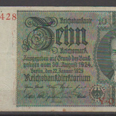 Germania 1929 - 10 Reichsmark, circulata