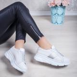 Pantofi Piele dama albi Nevaria