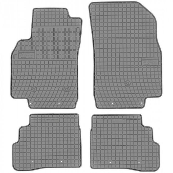 Set Covorase Auto Cauciuc Negro Chevrolet Spark 4 2015→ Gri GR546627