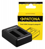 PATONA | Incarcator DUAL USB pt 2 acumulatori Insta360 One X Action, Dedicat