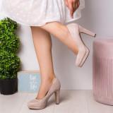 Pantofi dama cu toc aurii Maliasy