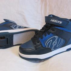 Adidasi / pantofi cu roti / role HEELYS originali, marime 38  (24 cm), Albastru