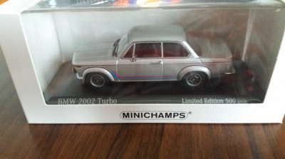 macheta bmw 2002 turbo 1973 - minichamps, 1/43, editie limitata. foto