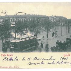 4556 - BRAILA, Tramway, Romania, Litho - old postcard - used - 1901, Circulata, Printata
