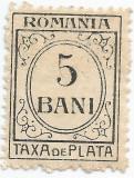 România, LP IV.12/1920, Taxă de plată, h. albă, fără filigran, eroare, MNH