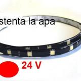 Banda flexibila 12 led-uri 5050 (30 cm) lumina rosie 24V TerraCars