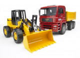 Camion pentru constructii-BRUDER MAN TGA 02752