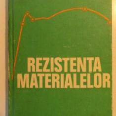 REZISTENTA MATERIALELOR de IOAN DEUTSCH , 1979
