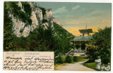 3208 - Baile HERCULANE, chioscul din parc - old postcard - used - 1906, Circulata, Printata