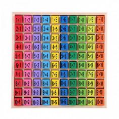 Joc educativ, tabla Inmultirii din lemn - 3331014
