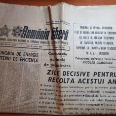 romania libera 16 aprilie 1984-art.foto orasul zalau,canalul dunare marea neagra