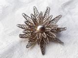 BROSA argint YEMEN in filigran DIADEMA de efect SPLENDIDA rara VECHE vintage