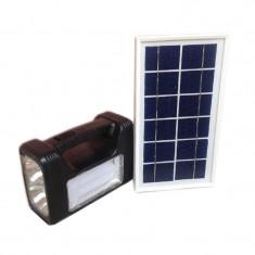 Kit solar cu lanterna si panou solar Eagle Head, 3 becuri incluse