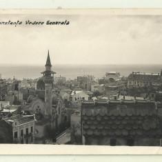 cp Constanta : Vedere generala - circulata 1939, timbre