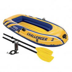 Barca pneumatica 2 persoane Intex Challenger 2, 213 x 114 x 41 cm, pompa inclusa