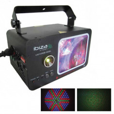 Laser color moon Ibiza, 162 led, 140 mW, Rosu/Verde