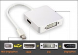 Cablu adaptor 3 in 1 Mini Display port To Dvi Hdmi Display Port