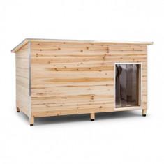 OneConcept SCHLOSS WUFF, cușcă pentru câine, Dimensiune XL, 110 x 160 x 100 cm, izolata, lemn