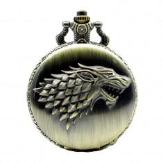 Lantisor Cu Pandantiv Ceas Game Of Thrones Wolf Stark