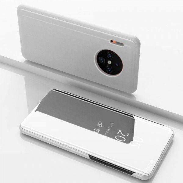 Husa Huawei Mate 30 Flip Cu Stand Tip Oglinda Argintie
