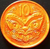 Moneda EXOTICA 10 CENTI - NOUA ZEELANDA, anul 2006  *cod 1047 - UNC din set numi