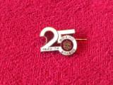 Insigna fotbal - DINAMO BRASOV (aniversare 25 ani)