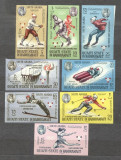 Qu´aiti State Hadhramaut 1967 Olympic winners Grenoble imperf. MNH U.035, Nestampilat