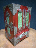 Elegant dulăpior caseta chinezeasca veche pentru bijuterii