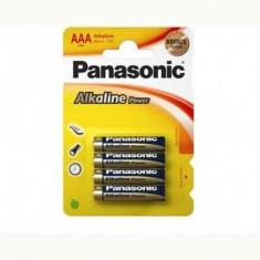 Set 4 baterii Panasonic Alkaline Power AAA R3