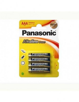Set 4 baterii Panasonic Alkaline Power AAA R3 foto
