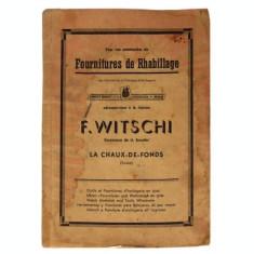 Fournitures de rhabillage - F.Witshi