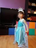 Rochie rochita printesa Elsa Frozen NOUA  2, 3 ani, 2-3 ani, Turcoaz
