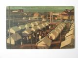 Rara! Carte postala circulata 1926:Techirghiol-Eforia,tabara de vara, Printata