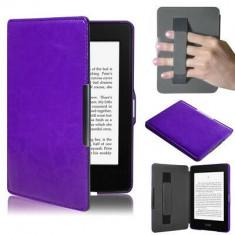 Husa Smart Amazon Kindle Paperwhite 1 2 3 + folie + stylus