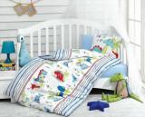 Lenjerie de pat pentru copii, Cotton Box, 129CTN2092, Multicolor