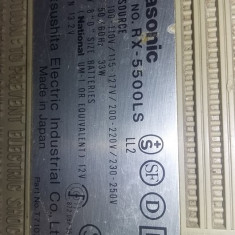 RADIO CASETOFON stereo radio cassette recorder panasonic RX 5500LS,T.GRATUIT