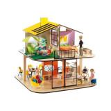 Casa din lemn pentru papusi, Djeco 37x40x40 cm