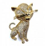 Brosa Pisica Gold